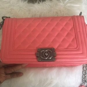 Peach Authentic Chanel Bag , 1year Old .